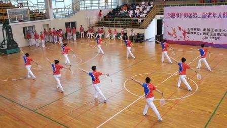 合肥市庐阳区第三届老年人健身球、柔力球比赛菱湖健身俱乐部冠军队视频