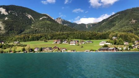 Wolfgangsee (Lake Wolfgang), Austria in 4K. Sept. 2018.