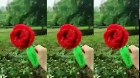 玫瑰花编织组装