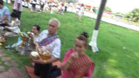 老挝万象佛教布施活动之三