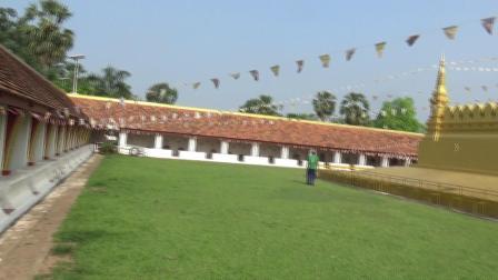 老挝万象塔銮寺外景