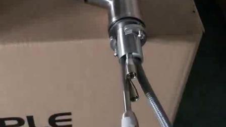 OPPLE卫浴-不锈钢厨房抽拉龙头连接软管安装