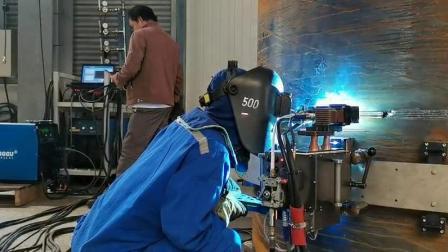 熊谷管道自动焊机2G位置的管道焊接