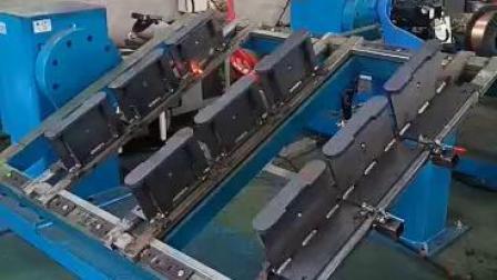 安川焊接机器人加翻转变位机 山东轩烨机器人案例 焊接机械手