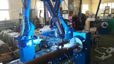 农机刀轴焊接机器人 安川焊接机器人 山东轩烨机器人案例 董 155 5319 9811