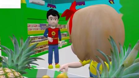 学习水果名称在英语水果名称为儿童卡通视频为儿童