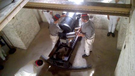 British 32 Pounder Smooth-Bore Breech-Loading Gun