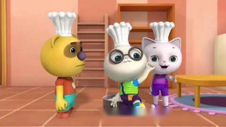 帮帮龙出动:小猫学妈妈做蛋糕,谁知蛋糕突然长大,把房子霸