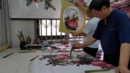 跟着贾进考学画大寿桃