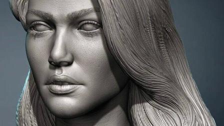 Zbrush雕刻作品,圆雕各个软件还有海量图库。 #手办 #泥塑 #雕塑 #zbrush #3d打印
