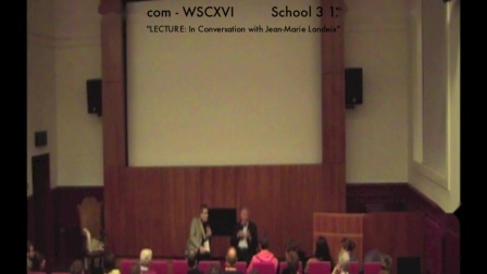 WSCXVI LECTURE- In Conversation with Jean-Marie Londeix