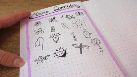 简单手工 DIY 超级可爱 个性手帐本 日记本设计 简笔画文字心情