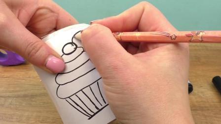 简单手工 DIY超级可爱生日礼物 个性 马克杯 水杯