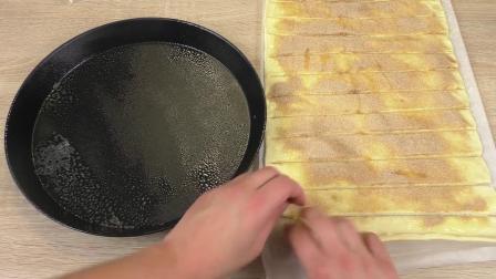 手工美味甜点厨房 DIY 手工自制 香甜肉桂粉蜗牛蛋奶蛋糕 制作展示