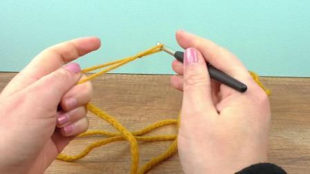 手工制作 DIY 编织 毛线钩针 基础简单初级 双股拼接麻花辫 织法