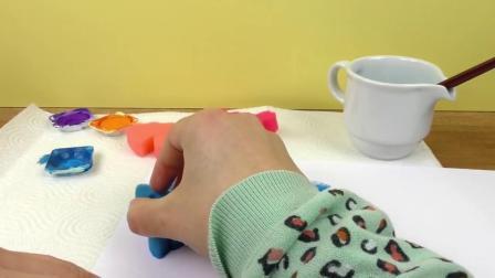 手工制作可爱海洋动物 海绵印章 绘画彩色 儿童简笔画