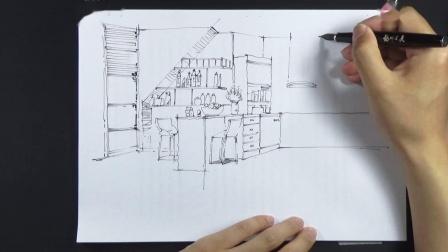 20190527_135128厨房室内手绘效果图绘制单体家具小品创意练习临摹