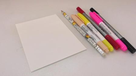DIY 手工 制作 简单 简易 简笔画 可爱 萌 彩虹 蛋糕 牛油 樱桃 彩铅 棒棒糖 宝宝 绘画 画画 填色 水彩 彩绘 自制