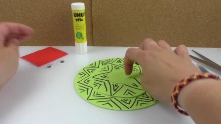 DIY 手工 制作 简易 创意 可爱 动物 黑白 彩色 蛇 简笔画 贴图 水晶 挂件 折纸 展示