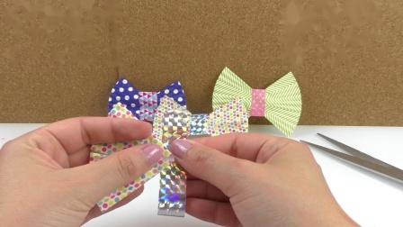 DIY 手工 制作 简易 波点 彩色 蝴蝶结 纸杯 蛋糕 烘培纸 改装 改造 装饰 挂饰 展示