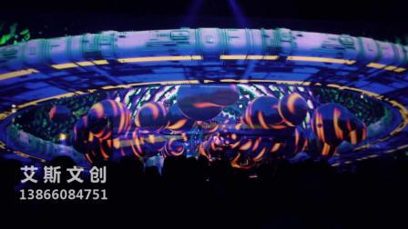 2019声光电设计全息舞美设计酒吧餐厅酒吧装饰酒吧灯光透明屏应用