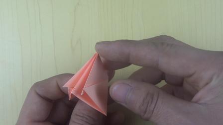 手工折纸教你如何折出一支漂亮玫瑰花 折纸教学