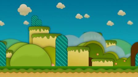 M0478冒险岛风格儿童卡通视频背景素材led