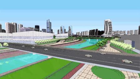 合肥市政务文化新区金寨路沿线城市设计概念方案动画演示