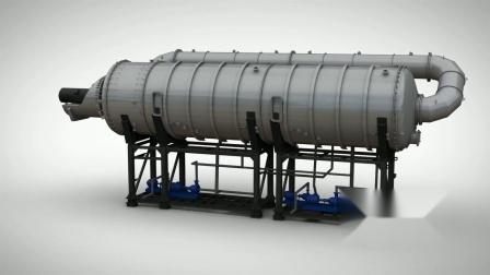 蒸发结晶盐MVC工艺原理三维动画