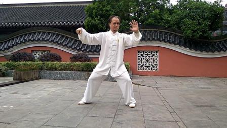 句容武协副主席周龙延演练十三式太极拳