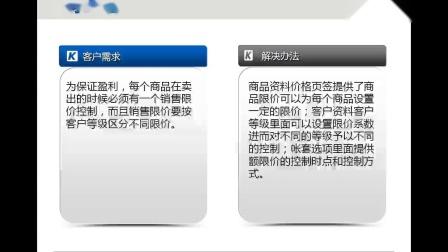 金蝶KIS商贸版应用案例培训_销售限价控制