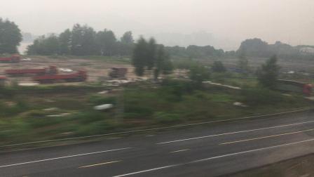 G1510次通过杭昌高速线杭黄段富阳站