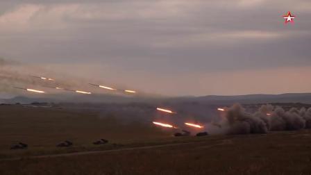 龙卷风多管火箭炮_俄罗斯2018沃斯托克Vostok军演