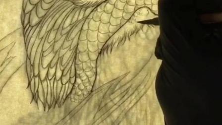 重庆纹身观音桥升子刺青设计的仙鹤纹身手稿