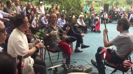 长治市潞州区太行公园,上党戏迷在唱戏(转)