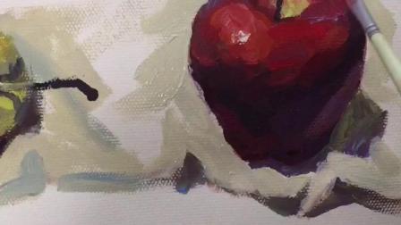 黑马画室水粉水果画法