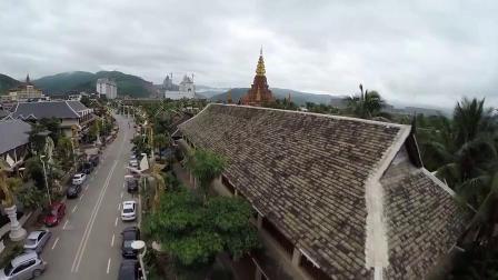 航拍西双版纳自然美景旅游旅行大自然古建筑高清实拍视频素材