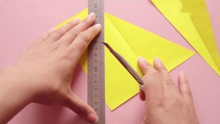 好看的折纸五角星,几张纸完成,步骤挺简单!