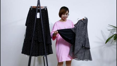 689期/新款雪纺蛋糕半身裙组合/15件起批/均价19.9元