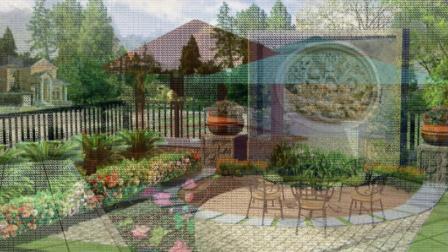 庭院景观设计案例效果图