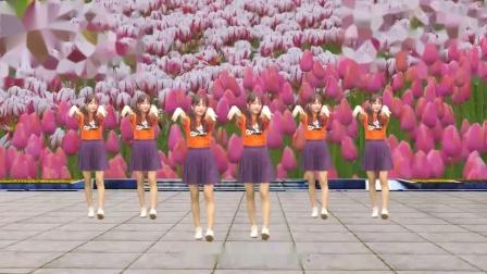 一首经典老歌《十五的月亮》广场舞,跟着妹子活力性感的舞步嗨