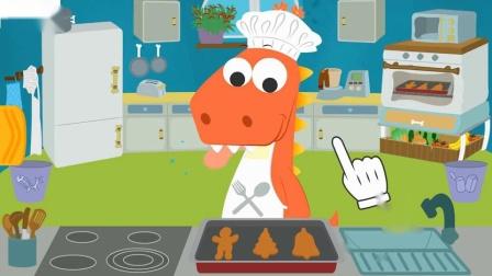 和艾迪一起种蔬菜恐龙在他的果园里种食物