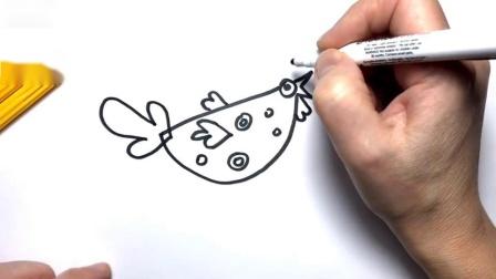 如何绘制可爱有趣的鸡彩页