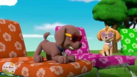 学习人物颜色带本和霍利的车辆佩帕猪儿童玩具箱中的爪巡逻
