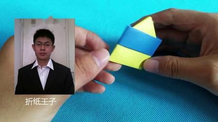 折纸王子教你三角形蛋糕,折纸大全简单又漂亮,留着教孩子 Origami tutorial 折り紙教程