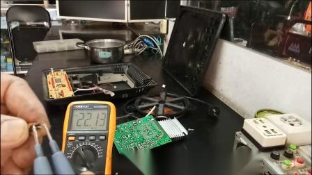南方家电维修:美的电磁炉断续加热维修视频