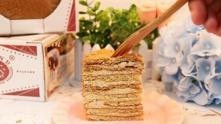 俄罗斯进口双山提拉米苏千层蛋糕500g早餐点心零食面包软糯糕点-tmall.com天猫