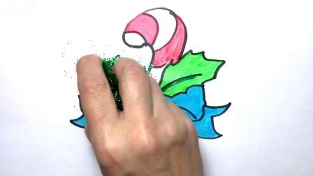 儿童圣诞糖果手杖彩页