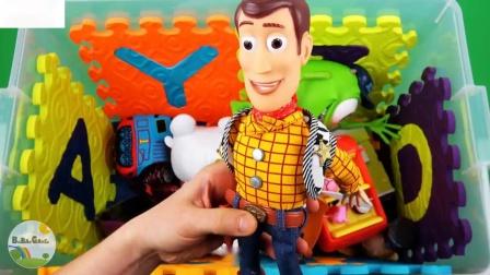 儿童和幼儿玩具总动员猪汽车3等玩具的角色颜色和车辆