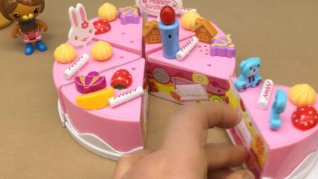 米妮玩具系列 西西过生日开生日晚会 好吃的生日蛋糕